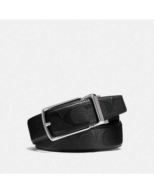 COACH - Black Modern Harness Cut-to-size Reversible Signature Crossgrain Leather Belt for Men - Lyst