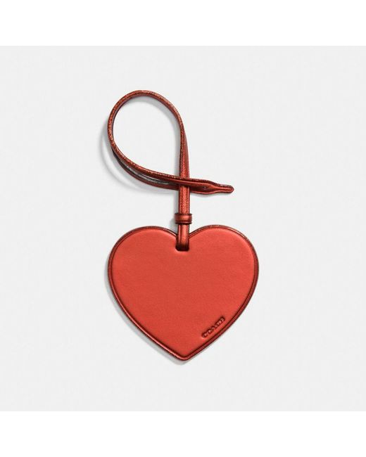 COACH - Red Complimentary Heart Charm - Lyst