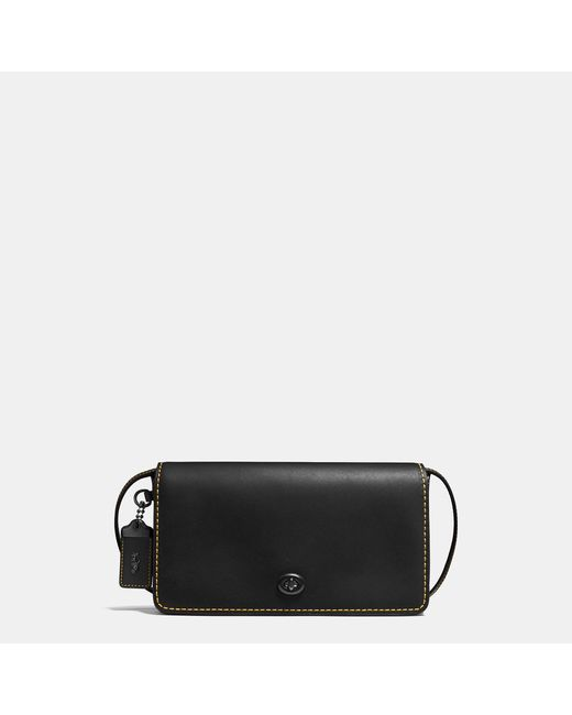 COACH | Black Dinky In Glovetanned Leather | Lyst