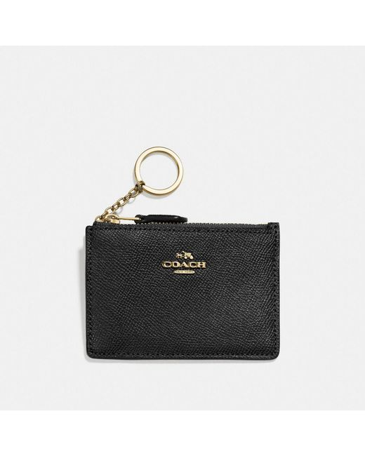 COACH - Black Mini Skinny Id Case - Lyst