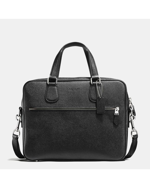 COACH | Black Hudson Bag 5 In Crossgrain Leather for Men | Lyst