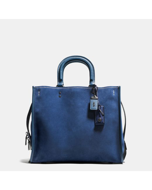 COACH | Blue Rogue 36 Suede Tote Bag | Lyst