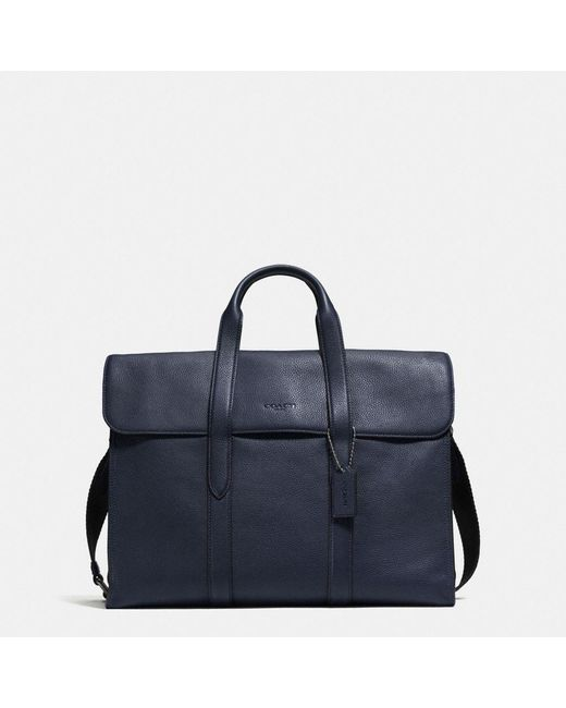 COACH | Black Metropolitan Portfolio In Refined Pebble Leather for Men | Lyst