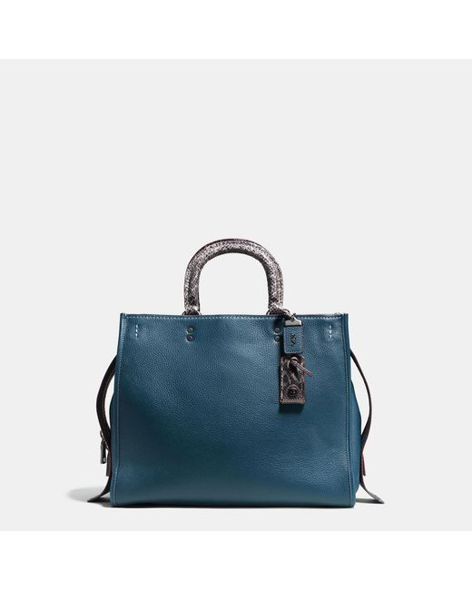 COACH | Multicolor Rogue 36 With Colorblock Snake Detail | Lyst
