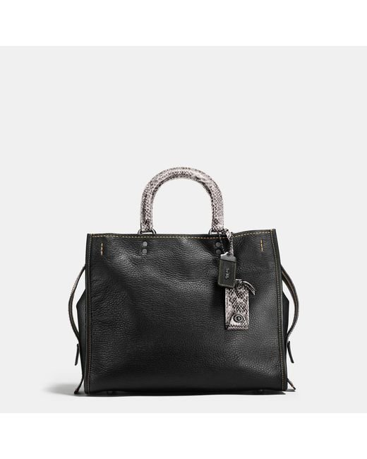 COACH | Black Rogue With Colorblock Snake Detail | Lyst