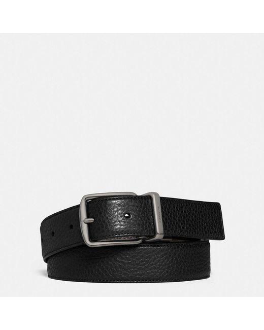 COACH   Black Regular Harness Cut-to-size Reversible Belt   Lyst