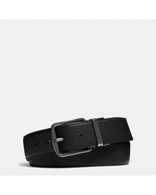 COACH | Black Wide Cut-to-size Reversible Leather Belt for Men | Lyst