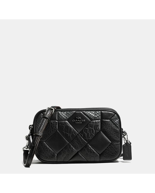 Coach Canyon Quilt Crossbody Clutch In Exotic Embossed