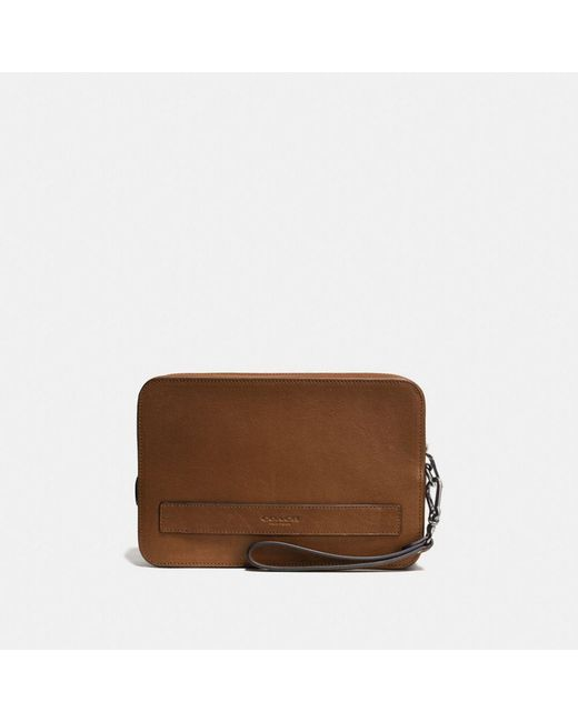 COACH | Brown Pouchette | Lyst