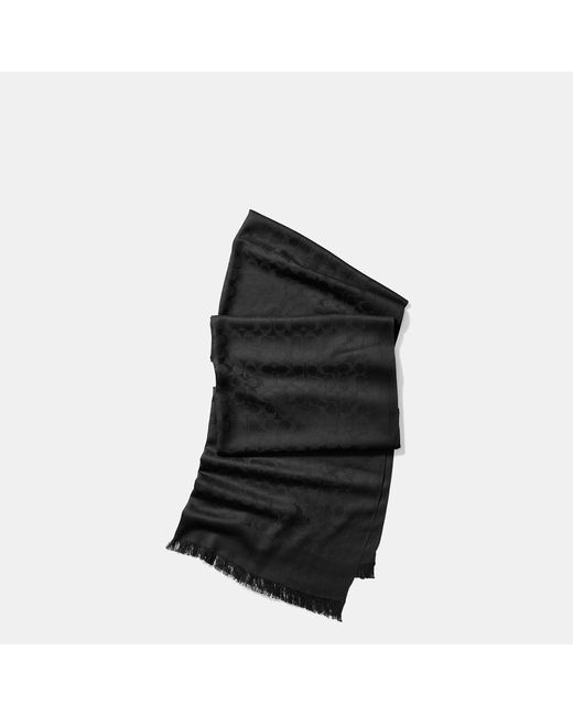 COACH | Black Signature Stole | Lyst