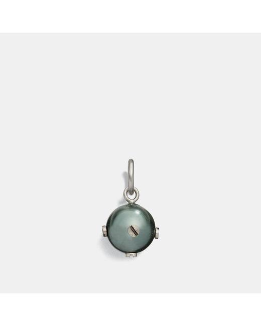 COACH - Metallic Nailhead Pearl Charm - Lyst