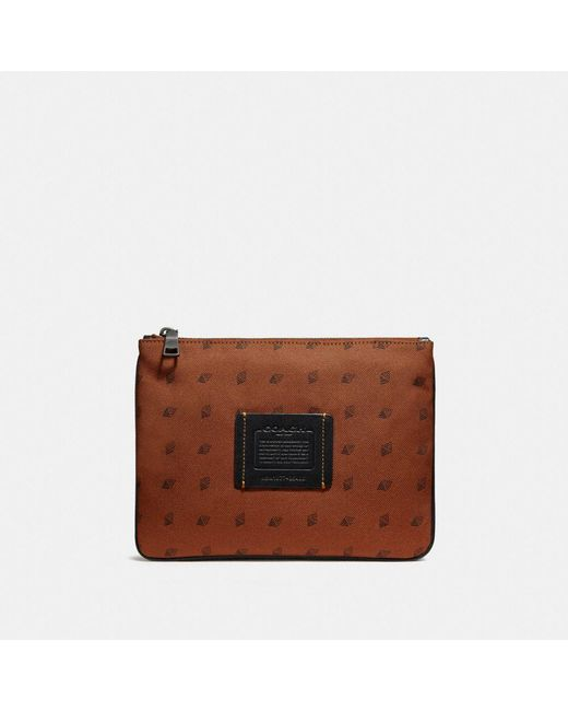 COACH - Multicolor Multifunctional Pouch With Dot Diamond Print for Men - Lyst