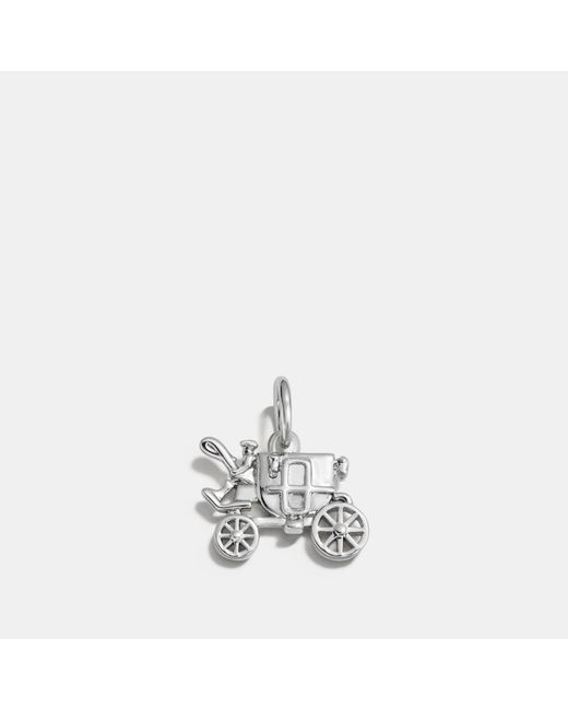 COACH - Metallic Carriage Charm - Lyst