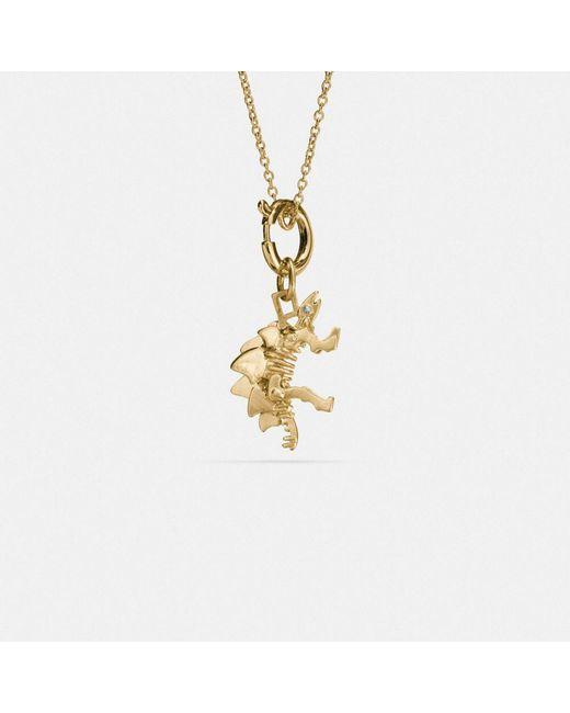 COACH | Metallic Steggy Charm Necklace | Lyst