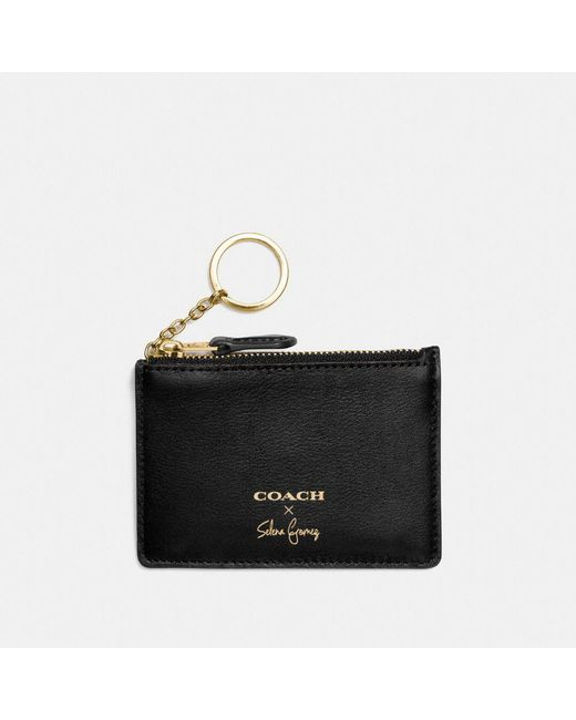 COACH | Black Selena Mini Skinny Id Case In Refined Calf Leather | Lyst