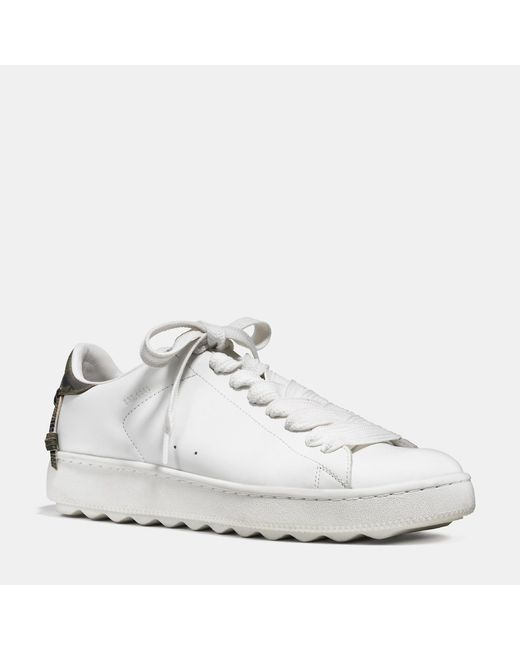 COACH | White Leather Low Top Sneaker for Men | Lyst