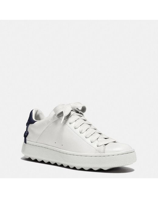 COACH   White Leather C101 Low Top Sneaker   Lyst