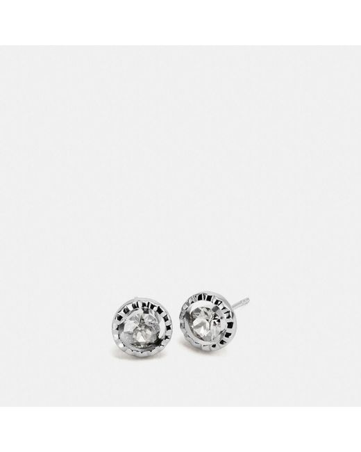 COACH | Metallic Daisy Rivet Stone Stud Earring | Lyst