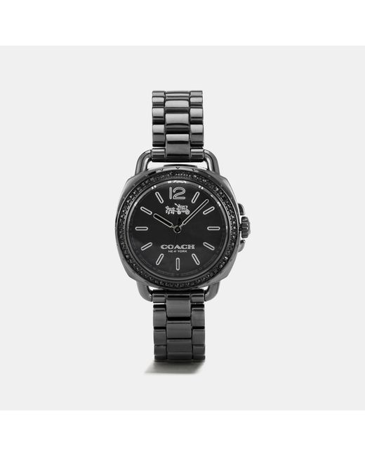 COACH - Black Tatum Watch, 34mm - Lyst