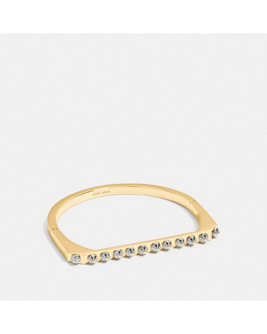 COACH - Metallic Daisy Rivet Side Hinged Bangle - Lyst