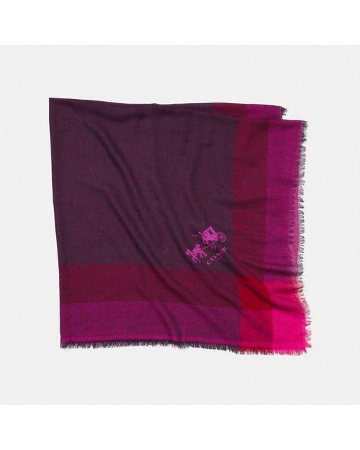 COACH - Purple Windowpane Challis - Lyst