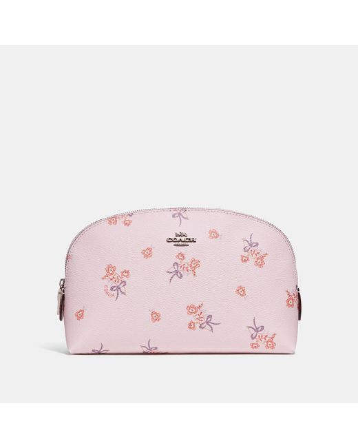 COACH - Pink Cosmetic Case 22 With Floral Bow Print - Lyst