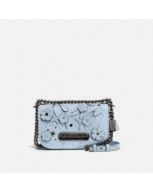 COACH | Blue Swagger Shoulder Bag 20 In Glovetanned Leather With Tea Rose Tooling | Lyst