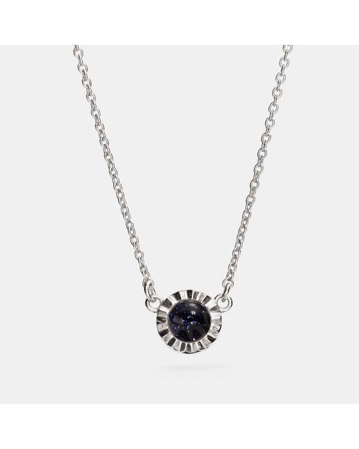 COACH - Metallic Demi-fine Sunburst Stone Necklace - Lyst