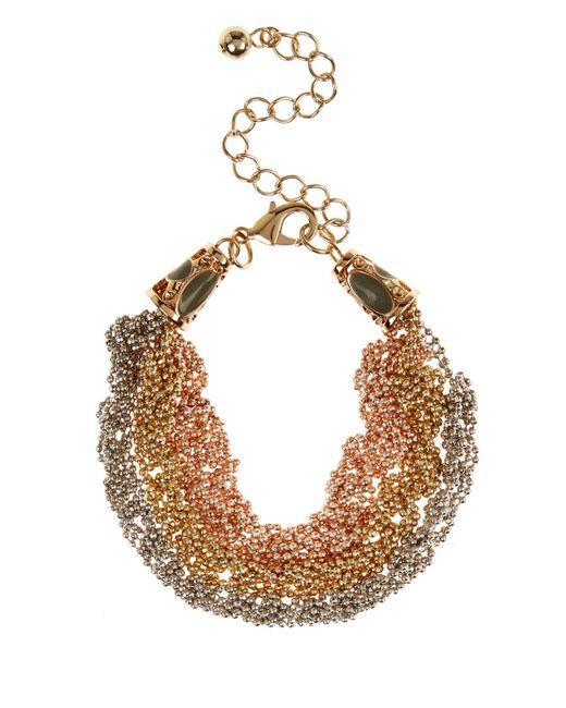 Coast | Metallic Millie Trichain Bracelet | Lyst