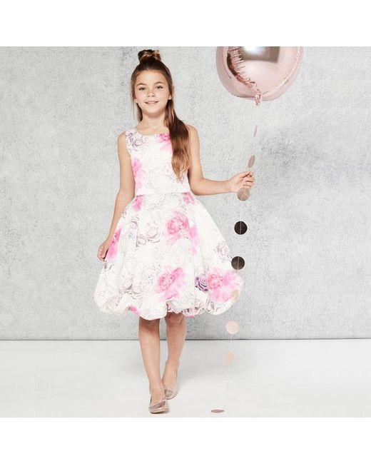 Coast - Pink Marnie Floral Puffball Dress - Lyst