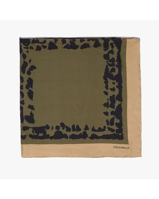 Coccinelle Animalier Print Multicolor Evergreen Silk