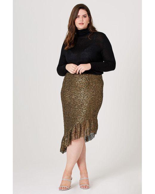 0698ae43cf7f Elvi - Multicolor Evie Sequin Asymmetrical Skirt - Lyst ...