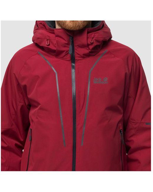 delikatne kolory niska cena oryginalne buty Jack Wolfskin Synthetic Escalente Hardshell Jacket in Red ...