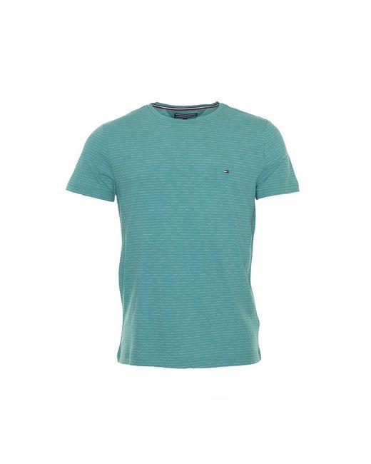 44512b80 Tommy Hilfiger - Blue Plain Heathered T-shirt for Men - Lyst ...