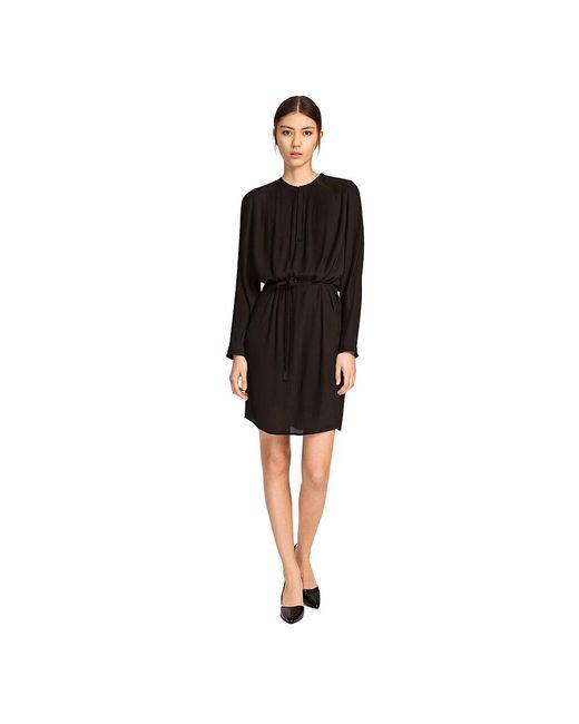 Samsøe & Samsøe - Black Kate Pleated Chiffon Dress - Lyst