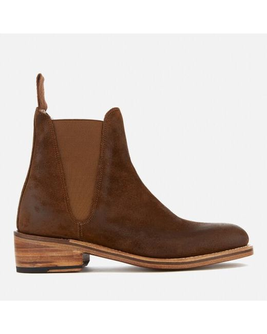 GRENSON | Brown Women's Nora Burnished Suede Chelsea Boots | Lyst