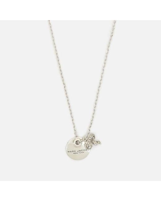 Marc Jacobs | Metallic Women's Mj Coin Bow Pendant Necklace | Lyst