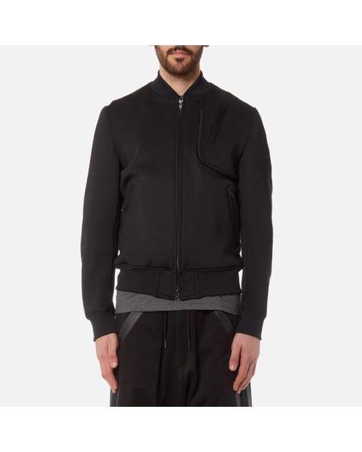 lyst y 3 y3 men s future sport bomber jacket in black for men