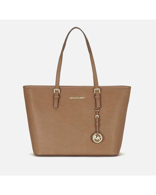 MICHAEL Michael Kors - Brown Women's Jet Set Travel Tote - Lyst