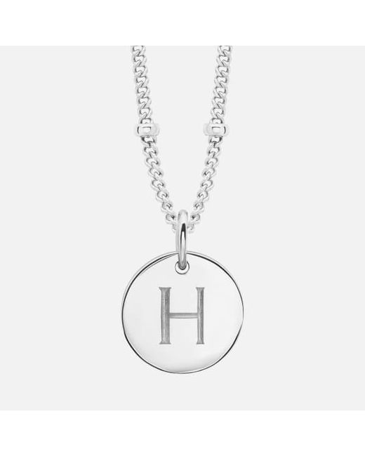 Missoma - Metallic Women's Silver 'h' Initial Necklace - Lyst