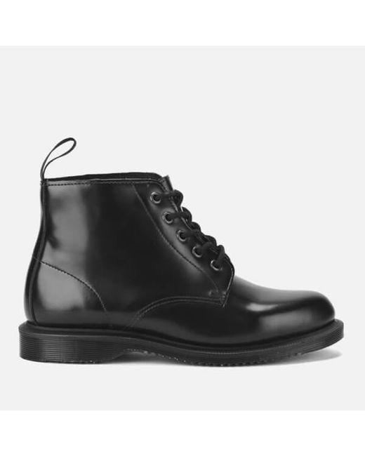 Dr. Martens   Black Emmeline Leather Ankle Boots   Lyst