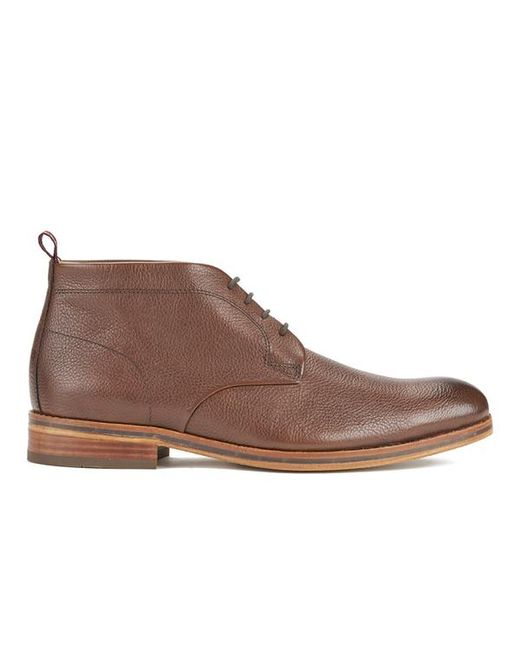 H by Hudson | Lenin Leather Boots - Brown for Men | Lyst