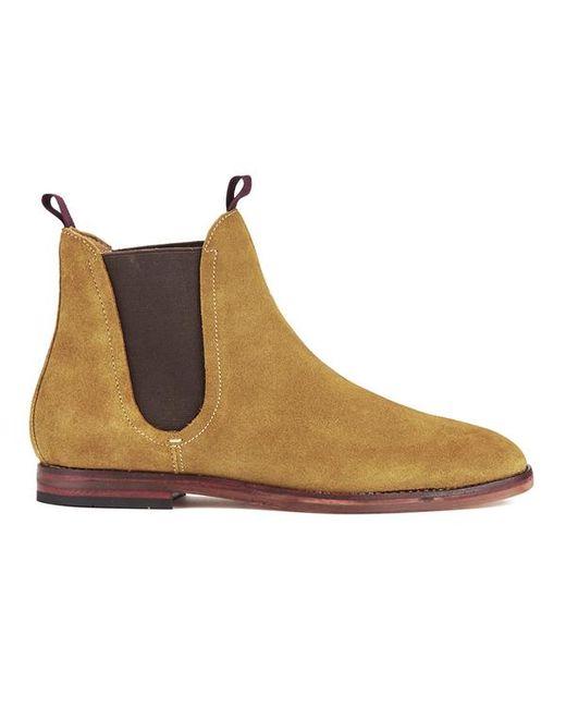 H by Hudson   Blue Tamper Suede Chelsea Boots - Beige for Men   Lyst