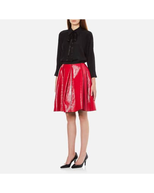 Popular Marc Jacobs Womens Navy Twill Belted Pocket Skirt  Ceecp