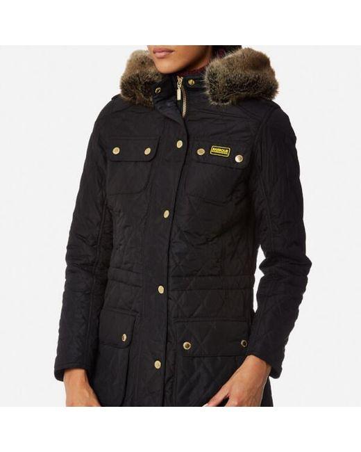Barbour Women S Enduro Quilt Jacket In Black Lyst