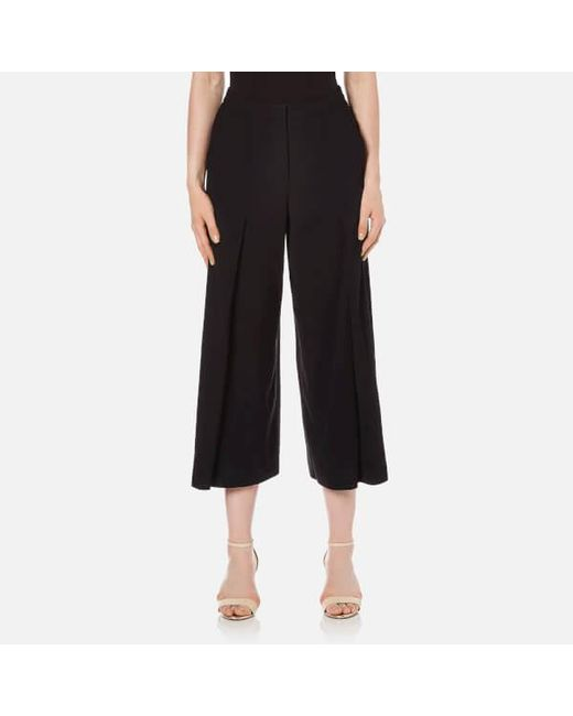 T By Alexander Wang | Black Women's Poly Crepe Flared Pants | Lyst