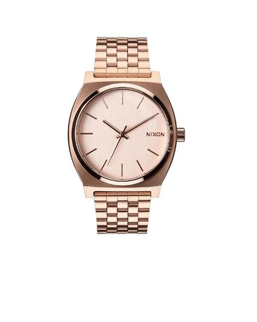 Nixon | Multicolor Rose Gold-tone Time Teller Stainless Steel Watch | Lyst