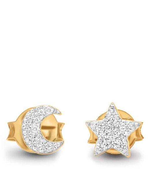 Missoma | Metallic Women's Moon And Star Stud Earrings | Lyst