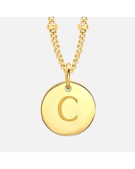 Missoma   Metallic Women's Initial Charm Necklace C   Lyst