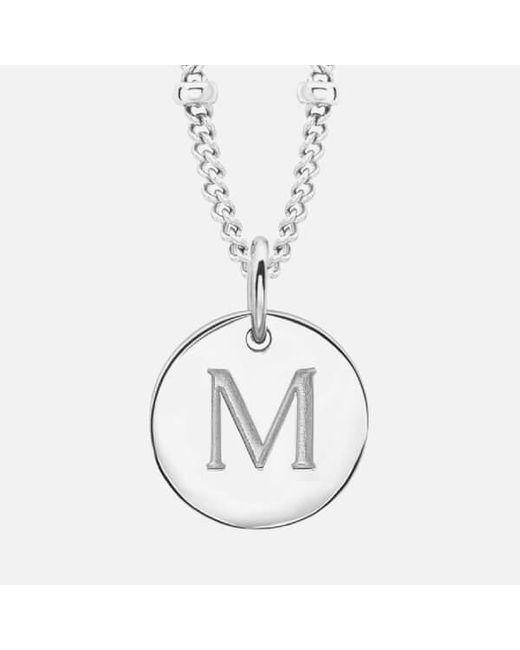 Missoma | Metallic Women's Initial Charm Necklace M | Lyst